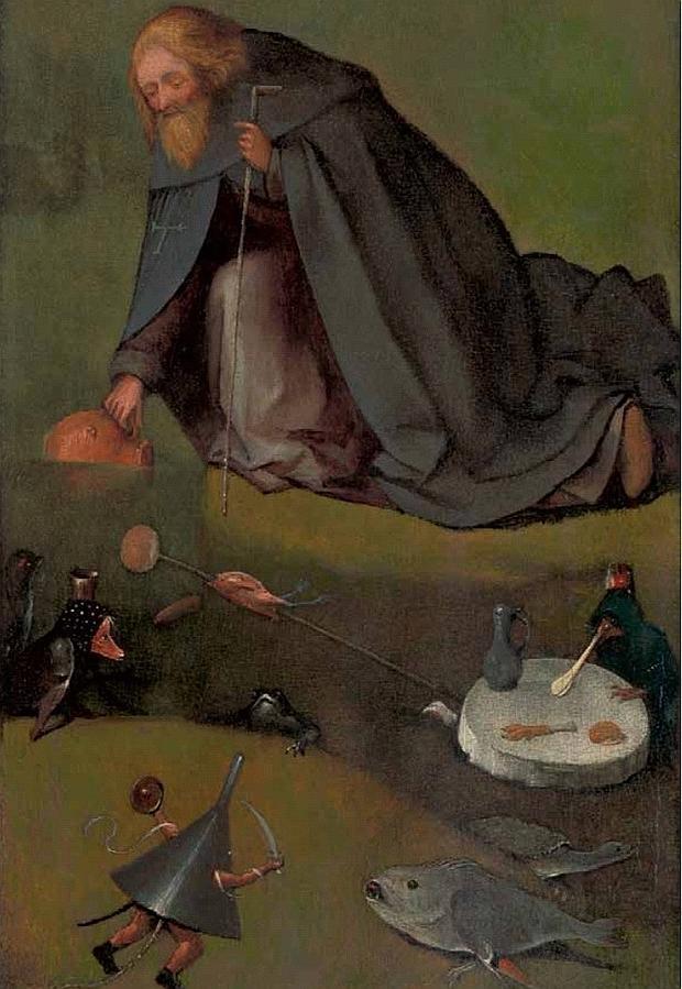 «Las tentaciones de San Antonio», recién atribuido a El Bosco