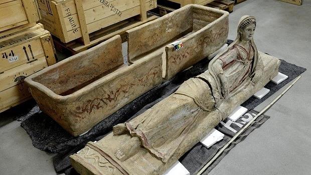 Una de las piezas recuperadas por las autoridaes italianas