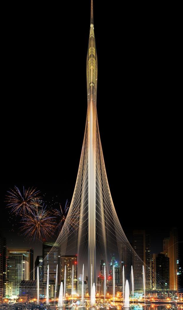 Calatrava dise ar la torre dubai creek en emiratos rabes for Edificio movil en dubai