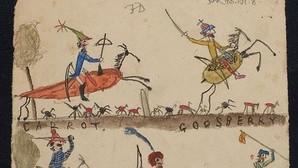 Dibujos de los hijos de Darwin encontrados entre los papeles de su biblioteca