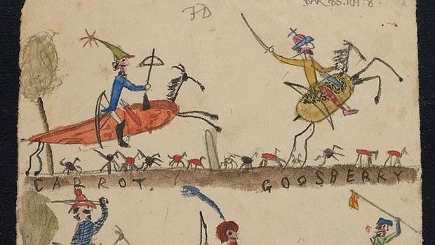 Los hijos de Darwin hicieron dibujos en el manuscrito de El