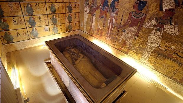La tumba de Tutankamón en el Valle de los Reyes, Luxor, Egipto