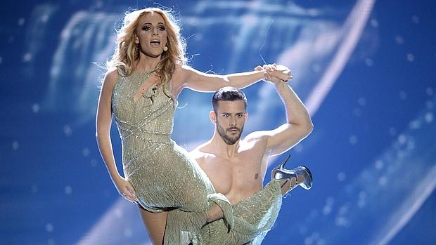 Edurne, durante su actuación en el último festival de Eurovisión