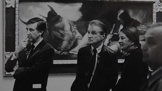 Bacon en el Museo del Prado en 1990