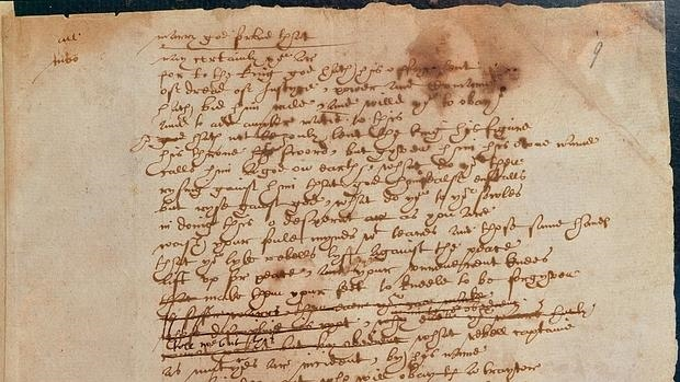 El manuscrito de William Shakespeare