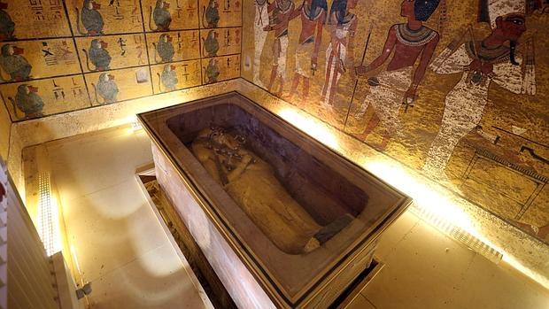 El sarcófago de Tutankamón, en el Valle de los Reyes, en Luxor
