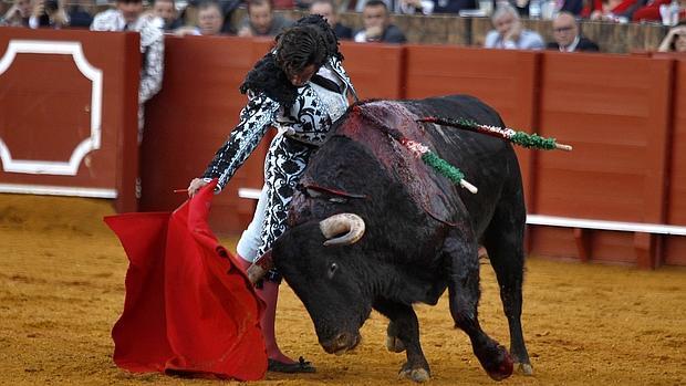 Morante de la Puebla, con el cuarto toro