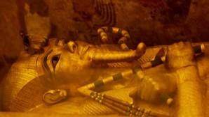 El sarcófago dorado de Tutankamón, en una imagen tomada el hoy