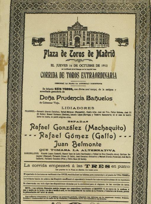 Cartel de la alternativa de Juan Belmonte (a partir de 750 euros)