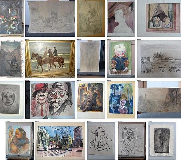 Algunas de las obras de la Colección Gurlitt