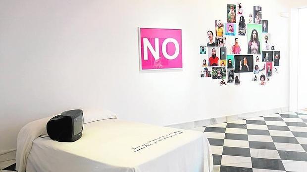 Montaje del proyecto «No», de Verónica Ruth Frías