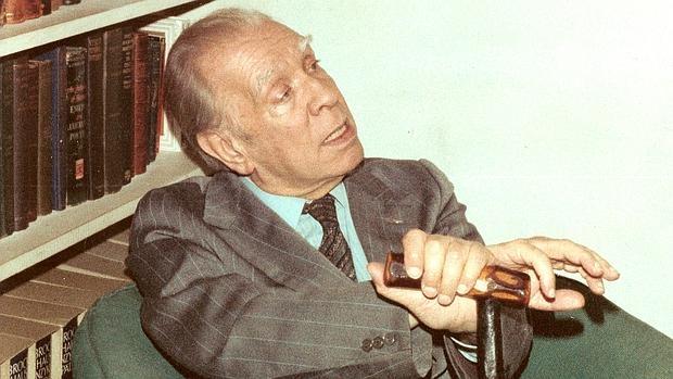 Una de las fotografías de Borges, nunca antes publicada, que puede verse en la muestra