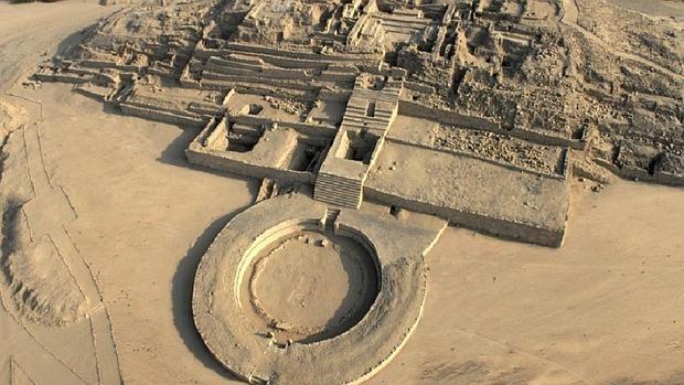Ruinas de la ciudad de Caral, declarada Patrimonio Mundial de la Unesco en 2009