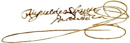 Firma autógrafa de Miguel de Cervantes ante un notario en Utrera (1593)