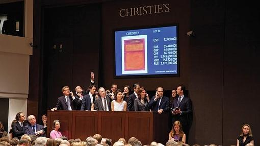En 2012 su obra «Orange, Red, Yellow» se vendió por 86,9 millones de dólares, récord de Rothko