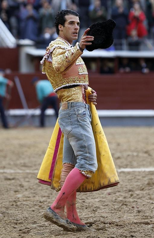 Morenito de Aranda, en vaqueros tras el percance