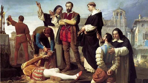 Cuadro de Gisbert sobre la ejecución de los Comuneros