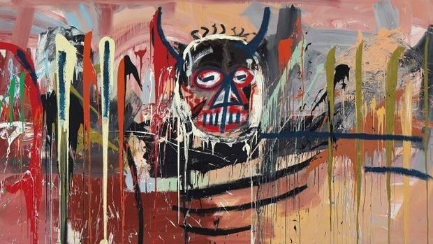 Detalle del autorretrato de Basquiat vendido en Christie's por 50 millones de euros