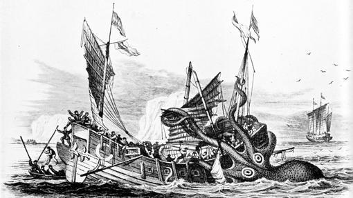 El kraken de Pierre Dénys de Montfort atacando una nave mercante.