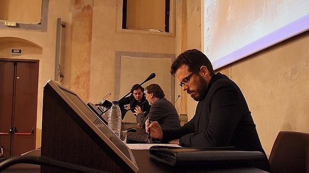 Vicente Luis Mora, durante una conferencia