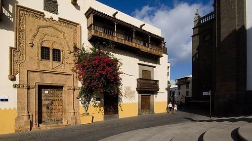 Fachada de la Casa de Colón, en Las Palmas de Gran Canaria