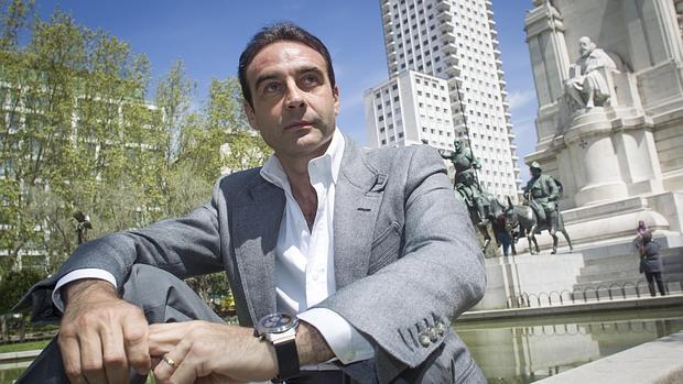 Enrique Ponce, en la Plaza de España