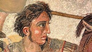 Alejandro Magno, uno de los protagonistas de las «Vidas» de Plutarco, en «El mosaico de Issos» (Pompeya)