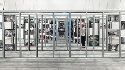 Imagen del interior del Pabellón Español en la Bienal de Arquitectura de Venecia