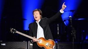 Paul McCartney en su concierto del pasado lunes en París