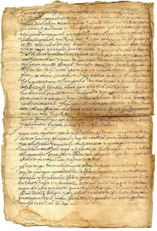 Último folio de la confesión de Pedro de Mondragón