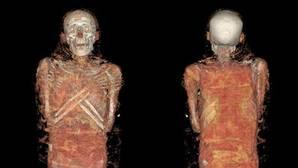Así se ven las momias del Museo Arqueológico tras el escáner 3D