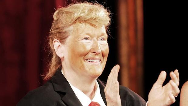 Meryl Streep, carcaterizada como Donald Trump