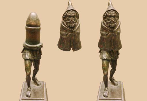 Estatuilla galo-romana de bronce de Príapo o Genius descubierto en el norte de Francia