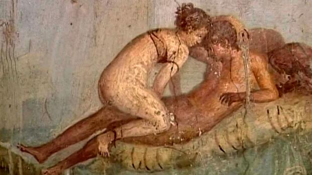 Los frescos de Pompeya demuestran la importancia del sexo en la época