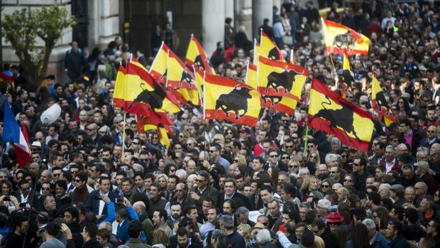 Multitudinara manifestación taurina el pasado marzo en Valencia