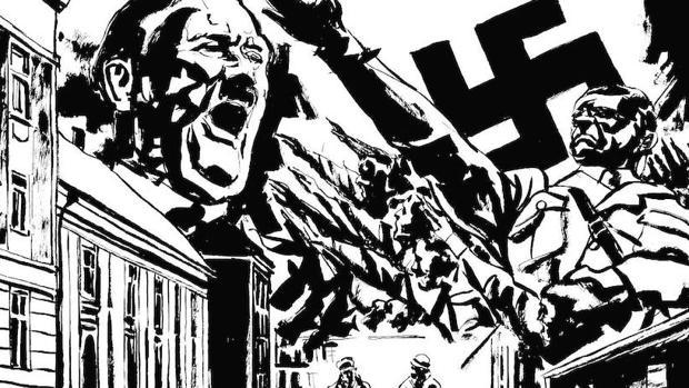 «Fuga de la muerte» emplea un estilo con reminiscencias del Expresionismo alemán