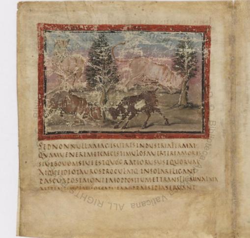 El manuscrito fue fue creado en torno al año 400 d. C. por un escriba y tres pintores
