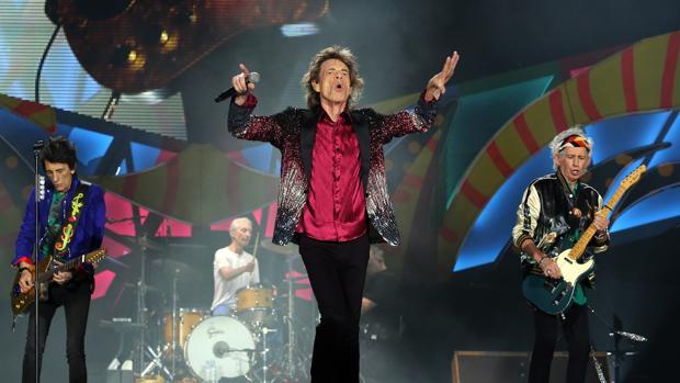 Los Rolling Stones durante un concierto
