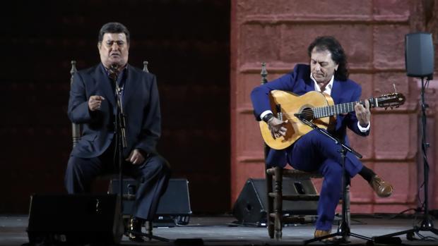 José Menese (i) y Antonio Carrión (d), en septiembre de 2015