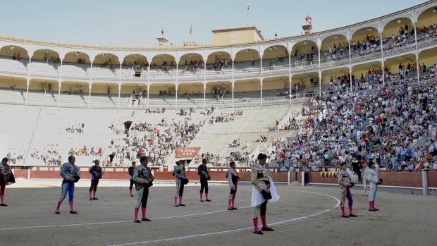 Una imagen reciente de la plaza de toroso de Las Ventas