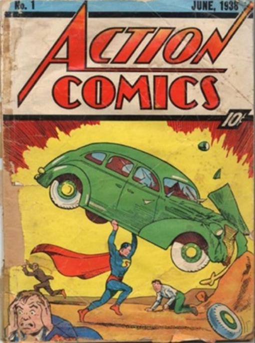 Portada del primer cómic de Superman