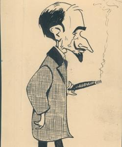 Caricatura de Jacinto Benavente