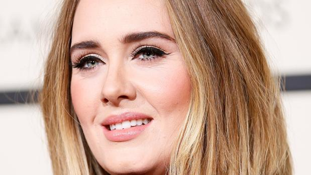 La cantante Adele, en la entrega de los Grammy el pasado mes de febrero