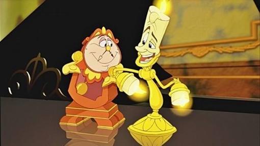 Ding Dong y Lumiere en versión animada