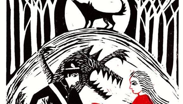 Detalle de una ilustración de Corinna Sargood para una edición de cuentos de Angela Carter publicada en Estados Unidos