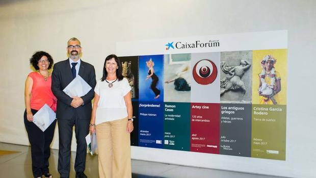 De izquierda a derecha, Isabel Fuentes, Ignasi Miró y Elisa Durán