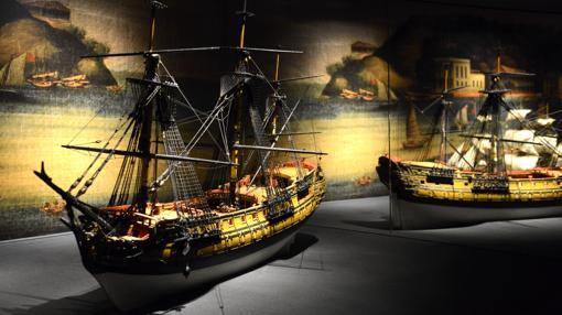 Modelos de navío de línea y fragatas de la ruta de Manila