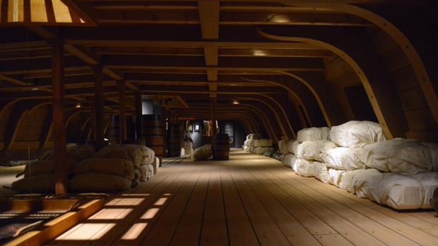Reconstrucción en tamaño real de la bodega de un galeón, desde hoy en el Museo Naval