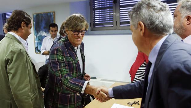 Simón Casas, ayer tras hacerse oficial que era el ganador del concurso por Las Ventas