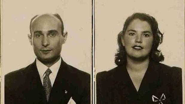 Juan Pujol García, alias Garbo, y su mujer Araceli González